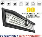 90 LED Solar Power PIR Motion Sensor Wall Light Outdoor Yard Path Garden Lamp US