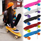 Skateboard Mini Cruiser Complete Board Deck Skate PU Wheels Retro Penny Boards