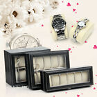6 10 20 Grids Leather Watch Jewelry Display Storage Holder Box Gift Organizer AU