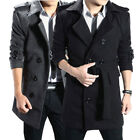 Mens Casual Long Sleeve Thicken Suit Collar Parkas Overcoat Jacket Outwear Coats