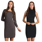 M-Rena Mock Neck Seamless Long sleeve Fitted Layering Dress One Size