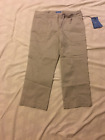 Vera Wang: Women Cropped/Capri Pants, Off Center String Tie: Dove, Sz 4