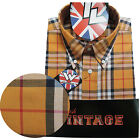 Warrior UK England Button Down Shirt LYDON Hemd Slim-Fit Skinhead Mod S-5XL
