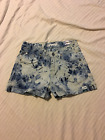 Uproar: Girl's 5 Pocket Denim Short Shorts, Cuff: Brilliant Blue, 10R, 14R