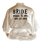 Personalised Harry Potter Satin Wedding Robe Dressing Gown Bride Gift - DE2