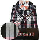 Warrior UK England Button Down Shirt MOORE Slim-Fit Skinhead Mod Retro