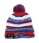 New Era NFL Buffalo Bills 2015  Royal Red White Beanie Stripped Lined Pom Hat