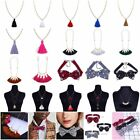 New Womens Crystal Long Tassel Necklace Pendant Necklace Jewelry Sweater Chain