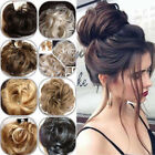 Natural Messy Bun Hair Pieces Real Scrunchy Scrunchie Bun Up Topper Blond Mix FO