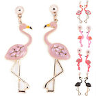 Flamingo Pendant Earrings Drop Dangle Ear Stud Earrings Jewelry Women Fashion LA