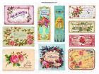 Furniture Decal Image Transfer Vintage Shabby Chic Floral Labels Signs Adverts