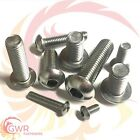 8mm 10mm 12mm Socket Button Head Screws - A2 Stainless Steel Allen Bolts ISO7380