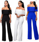 Womens Jumpsuit Sexy Lace Bandage Bodycon Jumpsuit Romper Trousers Pant Clubwear