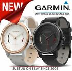 Garmin Vivomove Classic Smart Watch│Activity Tracker│Leather Band│Black & White