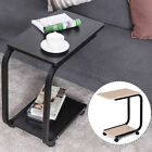 Mobile Coffee Tray Sofa Bed Side Table Couch Room Console Stand End Tables Desk