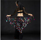 NEW Sequins Triangle Hip Scarf Belt Chain Belly Dance Costumes Shawl Dancewear