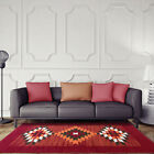 Warm Red Aztec Small Large Rugs Soft Touch Easy Clean Modern Area Rugs New Cheap
