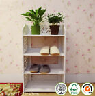 WPC White 3/4/5 Tiers Shoe Rack Stand Storage Organiser Unit Shelf Home UK Sale
