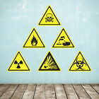 Biological & Chemical Warning Sign Wall Stickers - Chemistry Wall Stickers