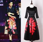 Wholesale 2017 Woman Spring Occident New Fashion Week Hot Printing Long Dress