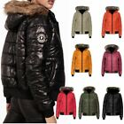 Ladies Padded Bubble Puffer Hooded Womens Jacket Outerwear Faux Fur Coat Top