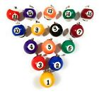 Billiard Ball Keychain Cue Sports Carom Billiards Pool Ball Fashional Figure $7.99 USD