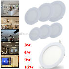 Ultraslim High Lumen Round Recessed 3W 6W 9W 12W LED Panel Cool White Light Lamp