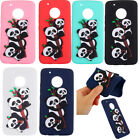3D Panda Patterned Soft Rubber Silicone Thin Case Cover For Motorola Moto G5 E4