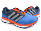 Mens adidas Response Boost 2 Techfit Blue Red Cushioned Running Gym Trainers