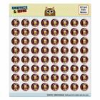 8-Bit Pixel Retro Beer Buff Game Puffy Bubble Scrapbooking Sticker Set