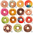 Soft Plush Pillow Stuffed Seat Pad Sweet Donut Foods Cushion Cover Case Colorful