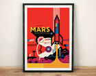NASA MARS POSTER: Visions of the Future Space Travel Print by Invisible Creature