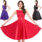 Women Dress Picnic Pinup Cocktail Summer Skater Retro Vintage Party Swing Style