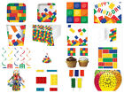Lego Block Party Birthday Cups Plates Napkins Invites Candles Loot Bags Balloons