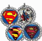 Superman Bottle Cap Necklace with Chain Handcrafted Kid's Bottle Cap Jewelry