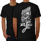 TShirts - Make Money Dollar Slogan Men Tshirt Back NEW Wellcoda