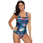 New Women's One Piece Swimdress Sexy Exposed Back Swimsuit Plus Size Beachwear