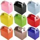 Party Lunch Boxes Plain Solid Colour Loot Favour Sweet Treat Bag Goody Wedding