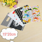 100PCS Colorful Printing Plastic Gift Decorated Packing Shopping Bag 15X20CM Top