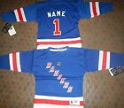 New York Rangers Kids Size 4/7  NHL Hockey Jersey add  any name & number