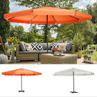 16Ft Large Size Patio Umbrella Outdoor Market Sunshade With Cross Base And Crank