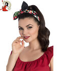 HELL BUNNY STRAWBERRY SUNDAE 40s 50s vintage REVERSIBLE HAIR tie scarf HEADBAND