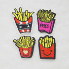 Embroidery Iron on Patch French Fries Sewn For Clothing Applique Backpack  Motif