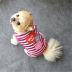 Pet Clothes Cat Puppy Dog Clothes Soft Cotton T Shirt Tops Vest Costume Apparel