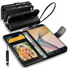 Samsung Galaxy On7 Prime Wallet Flip Book Case Cover With Mini Stylus pen