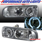 Set of Euro Clear Halo Projector Headlights for 98-04 Chevrolet S10 and Blazer