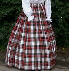 Ladies Victorian skirt  Dress Stewart tartan costume fancy dress Hogmanay