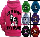 PERSONALISED GOB ON A COB !! HORSE RIDING HOODIE Adult's PIEBALD GYPSY COB