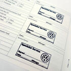 STAMPED Service History Log Book VOLKSWAGEN stamp Replacement History VW Golf UP