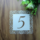 Laser Cut Luxury Vintage Table Numbers Wedding Sweets Favour Table Number Cards